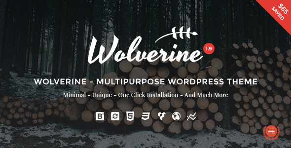 Wolverine – Responsive Multi-Purpose WordPress Theme