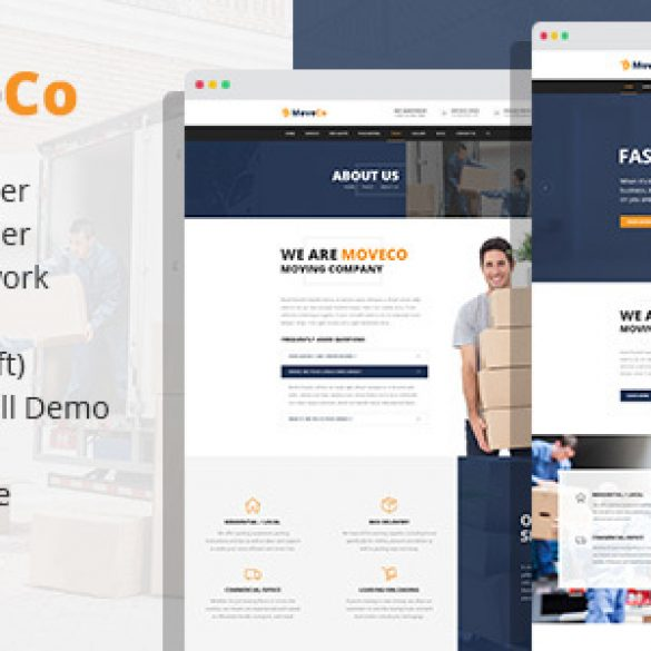 MoveCo – Logistics, Moving Company WordPress Theme