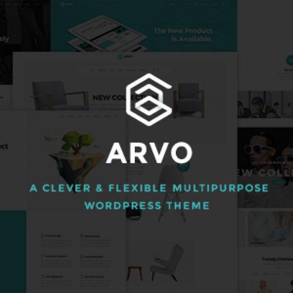 Arvo – A Clever & Flexible Multipurpose WordPress Theme